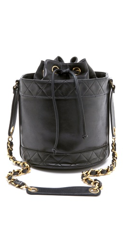 WGACA Vintage Vintage Chanel Black Bucket Bag
