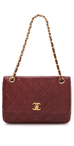 WGACA Vintage Vintage Chanel Double Stitch Shoulder Bag
