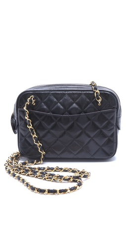 WGACA Vintage Vintage Chanel Double Chain Camera Bag