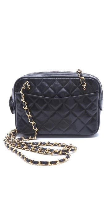 WGACA Vintage Vintage Chanel Double Chain Camera Bag