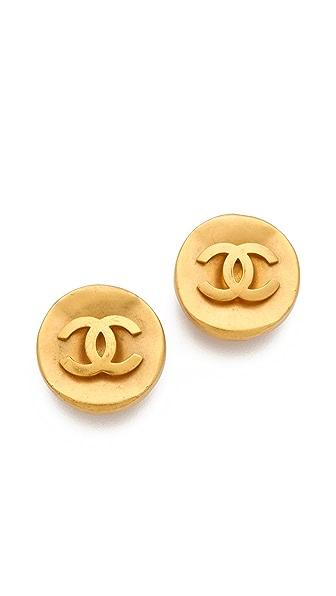 WGACA Vintage Vintage Chanel CC Circles Earrings
