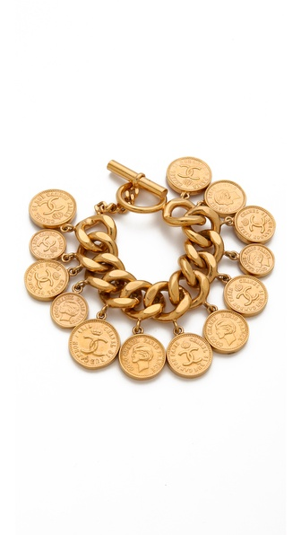 WGACA Vintage Vintage Chanel Coin Bracelet