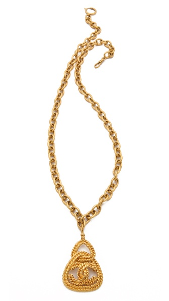 WGACA Vintage Vintage Chanel Rope Triangle Necklace
