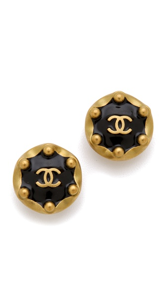 WGACA Vintage Vintage Chanel Ball Earrings