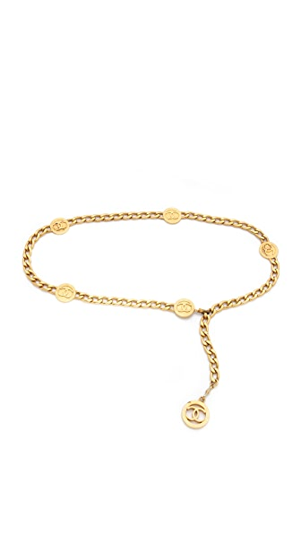 WGACA Vintage Vintage Chanel Coin Chain Belt