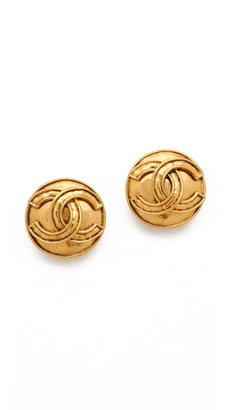 WGACA Vintage Vintage Chanel Rounded Earrings