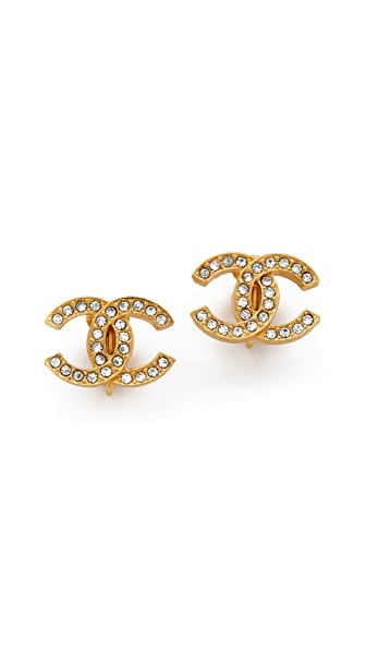 WGACA Vintage Vintage Chanel Crystal Earrings