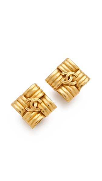 WGACA Vintage Vintage Chanel Square Earrings