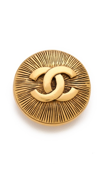 WGACA Vintage Vintage Chanel CC Burst Pin
