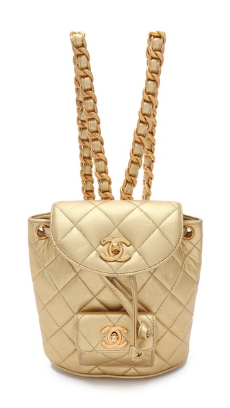 WGACA Vintage Vintage Chanel Metallic Backpack