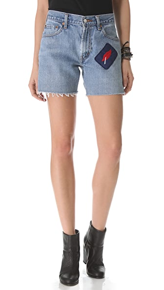 WGACA Vintage Custom Vintage Shorts with Lip Patch