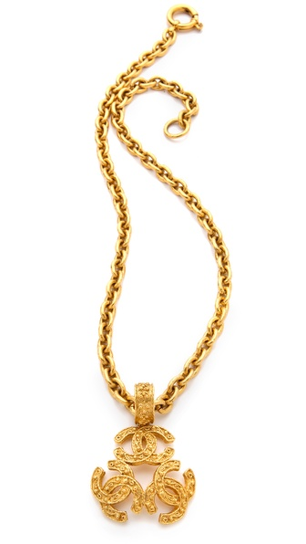 WGACA Vintage Vintage Chanel Pendant Necklace