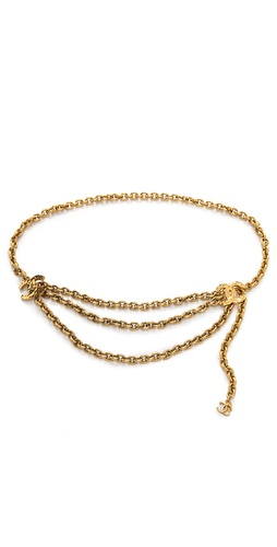 WGACA Vintage Vintage Chanel Hammered CC Belt at Shopbop.com