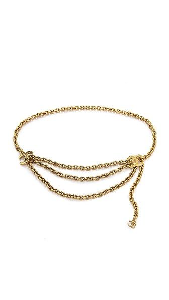 WGACA Vintage Vintage Chanel Hammered CC Belt