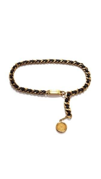 WGACA Vintage Vintage Chanel Cambon Coin Leather Belt