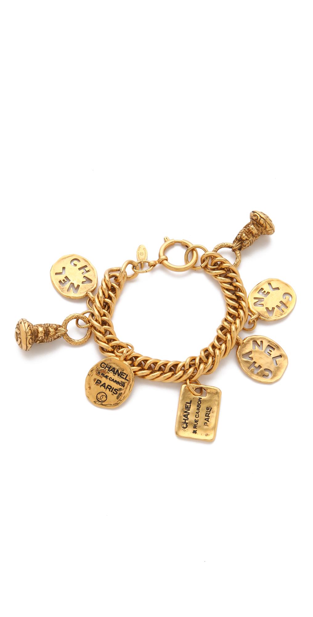 珠宝首饰 首饰 > chanel 复古饰牌镂空硬币手链