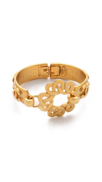 WGACA Vintage Vintage Chanel CC Swirl Closure Cuff