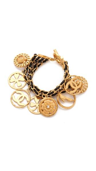 WGACA Vintage Vintage Chanel Clover & Camellia Bracelet