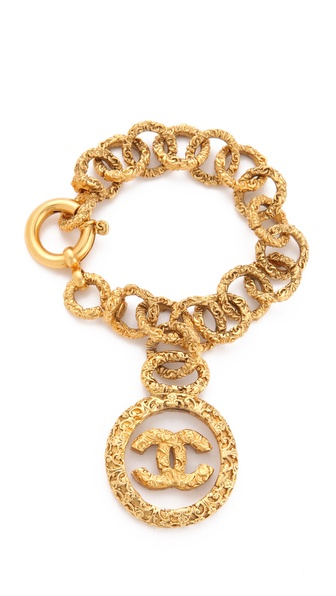 WGACA Vintage Vintage Chanel CC in Glass Bracelet
