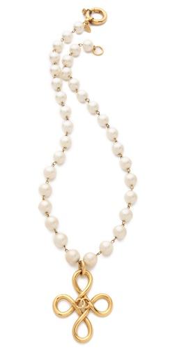 WGACA Vintage Vintage Chanel Cross Necklace