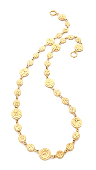 WGACA Vintage Vintage Chanel CC & Coins Necklace