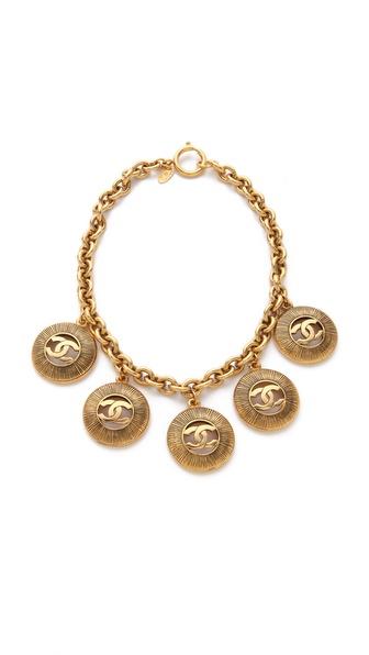 WGACA Vintage Vintage Chanel CC Coin Necklace