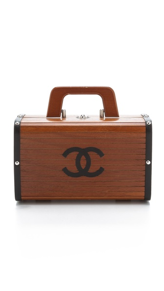 WGACA Vintage Vintage Chanel Wood & Leather Bag