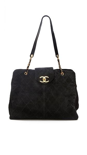 WGACA Vintage Vintage Chanel Super Model Suede Bag