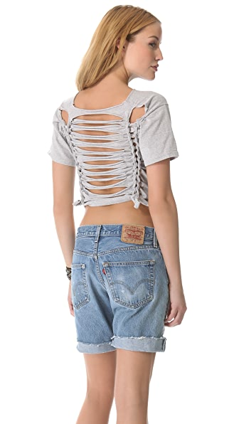 WGACA Vintage Back Slash Braid Tee