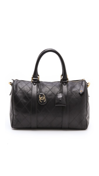 WGACA Vintage Vintage Chanel Quilted Doctor Bag
