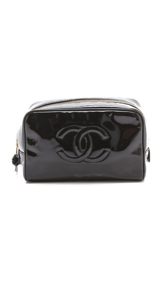 WGACA Vintage Vintage Chanel Patent Cosmetic Bag