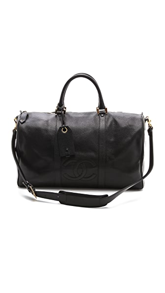 WGACA Vintage Vintage Chanel Large Boston Bag