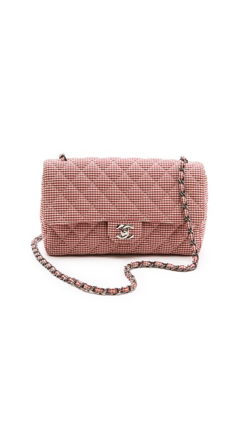 WGACA Vintage Chanel Gingham 2.55 Bag