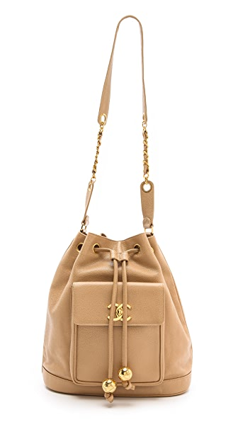 WGACA Vintage Chanel Caviar Bucket Bag