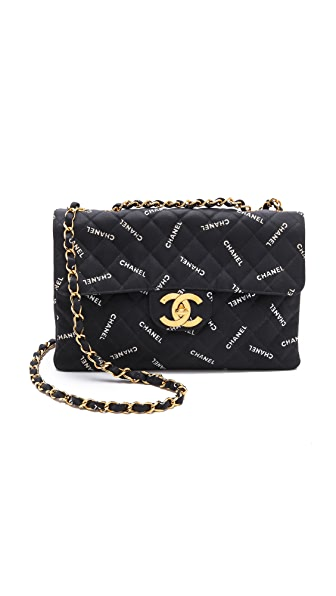 WGACA Vintage Vintage Chanel Jumbo Words Bag