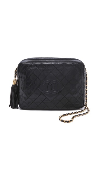 WGACA Vintage Vintage Chanel Large Camera Bag