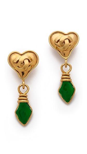 WGACA Vintage Vintage Change Heart Earrings
