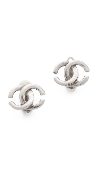 WGACA Vintage Vintage Chanel CC Clip On Earrings