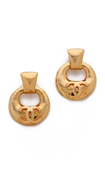 WGACA Vintage Vintage Chanel Rounded Clip On Earrings