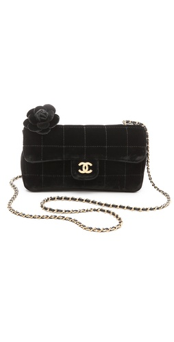 WGACA Vintage Vintage Chanel Velvet Choco Bag