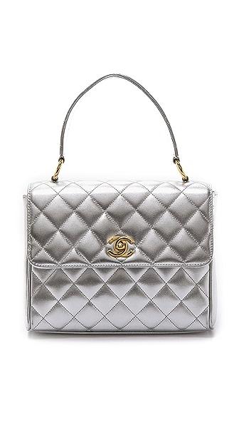 WGACA Vintage Vintage Chanel Half Flap Bag