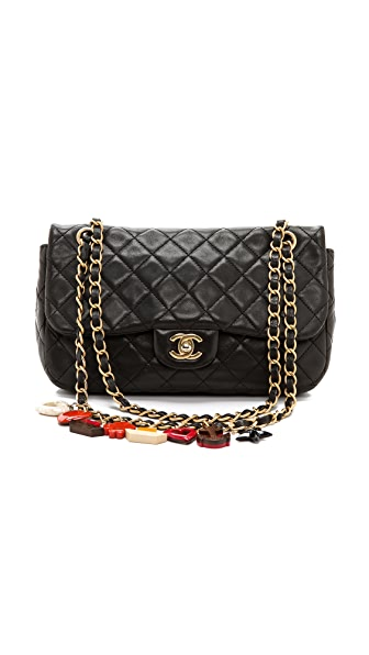 WGACA Vintage Vintage Chanel Black Quilted Charm Bag