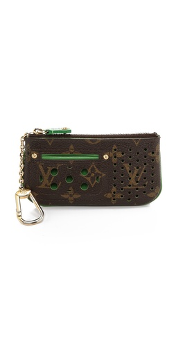 WGACA Vintage Vintage Louis Vuitton Perforatted Wallet with Key Ring