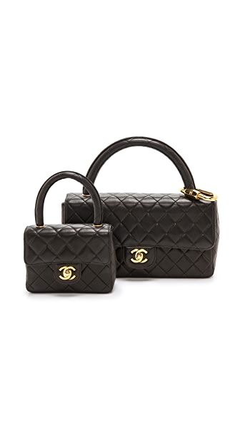 Chanel Chanel Chanel Double Bag Set (Black)