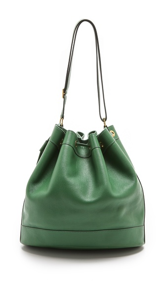 What Goes Around Comes Around Hermes Bucket Bag - Green