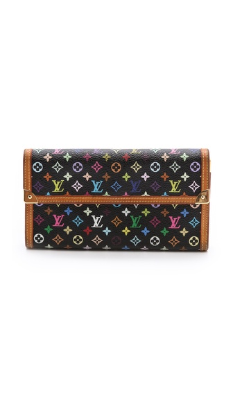 What Goes Around Comes Around Louis Vuitton Multicolor Monogram Snap Wallet