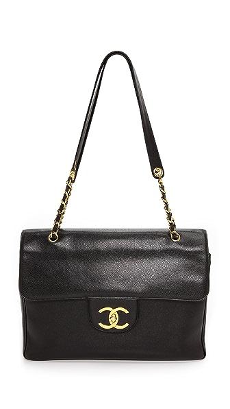 Chanel Chanel Chanel Caviar Jumbo CC Bag (Black)
