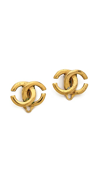 What Goes Around Comes Around Vintage Chanel CC Earrings