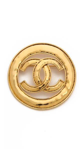 What Goes Around Comes Around Vintage Chanel CC Circle Brooch