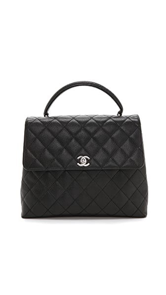 What Goes Around Comes Around Vintage Chanel Caviar Flap Tote